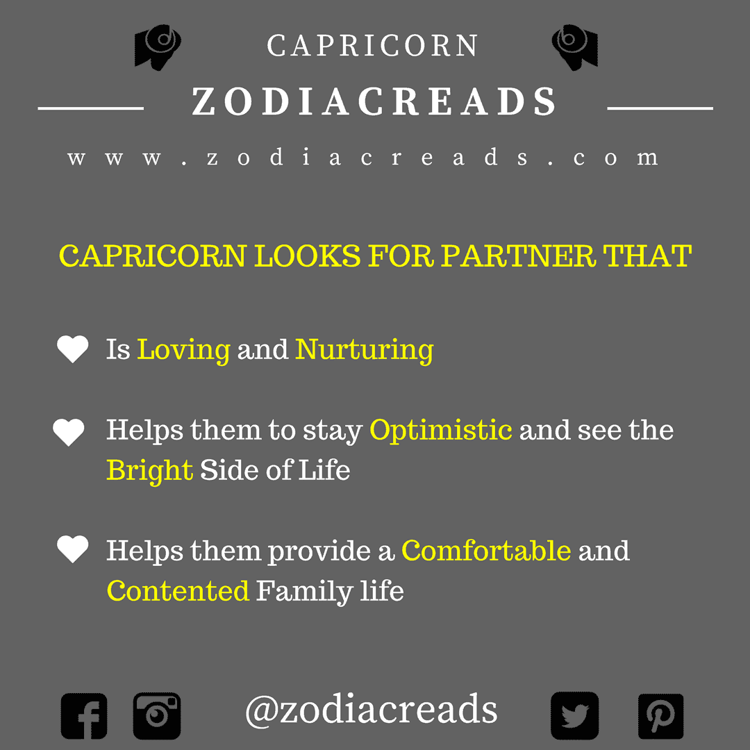 ZODIAC SIGN - THINGS THAT CAPRICORN LOOKS FOR IN PARTNER
