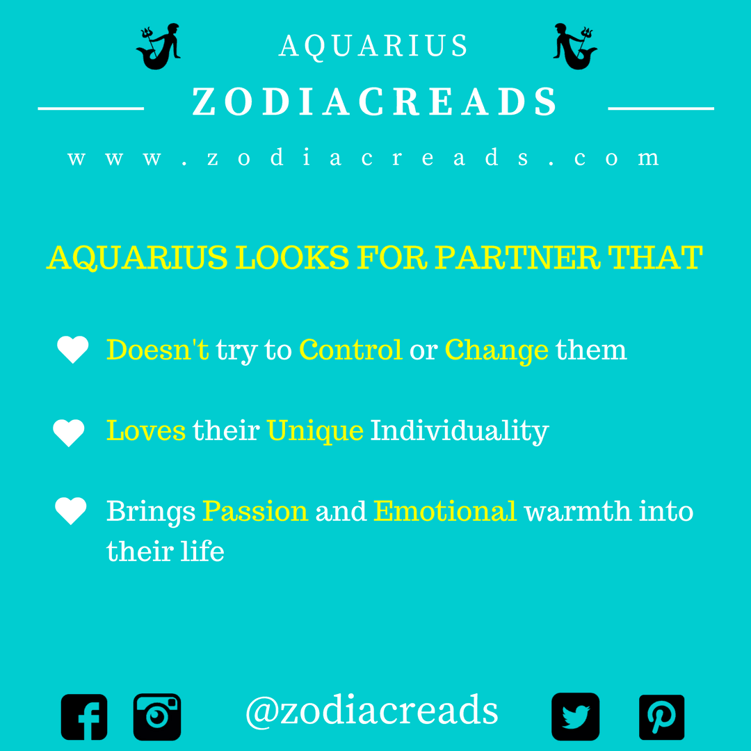 ZODIAC SIGN - THINGS THAT AQUARIUS LOOKS FOR IN PARTNER