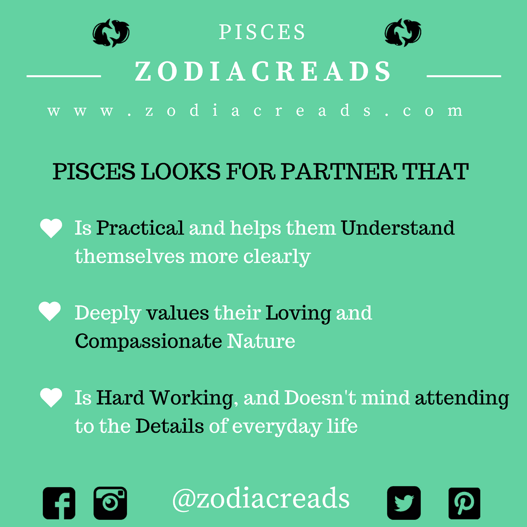 ZODIAC SIGN - THINGS THAT PISCES LOOKS FOR IN PARTNER