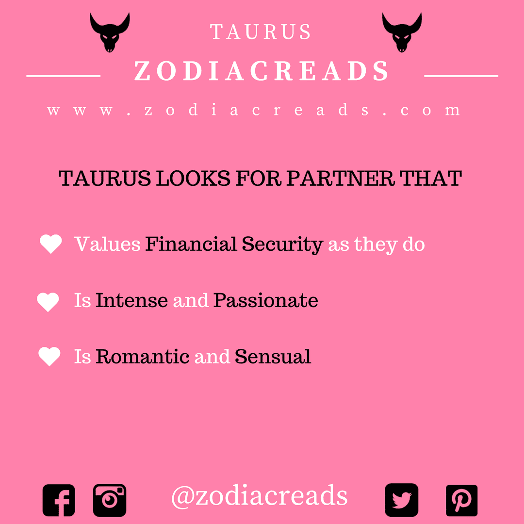 ZODIAC SIGN TAURUS LOOKS FOR PARTNER