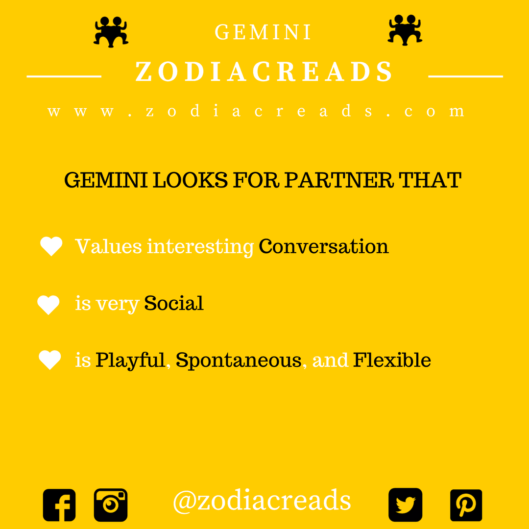 ZODIAC SIGN GEMINI LOOKS FOR PARTNER