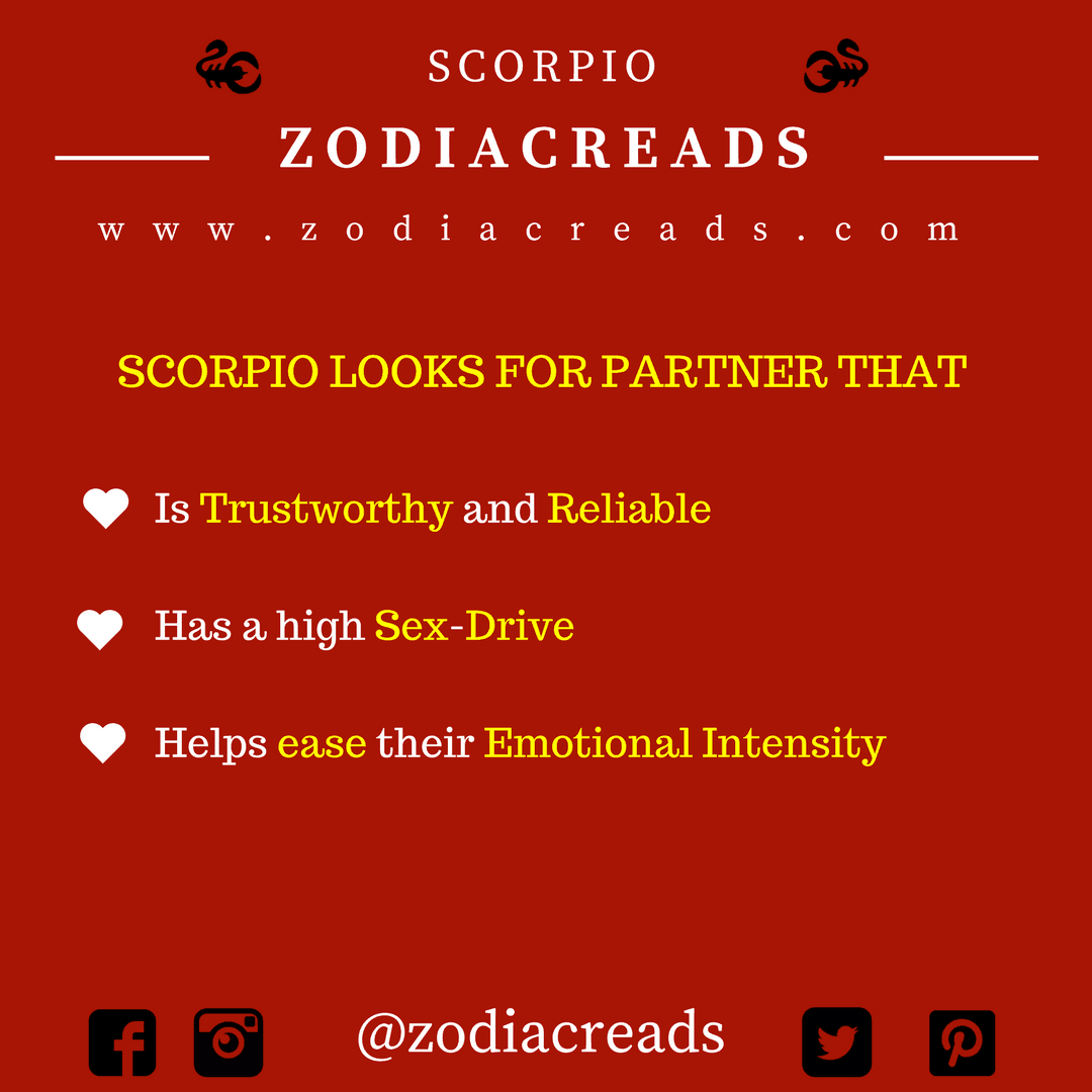 ZODIAC SIGN - THINGS THAT SCORPIO LOOKS FOR IN PARTNER