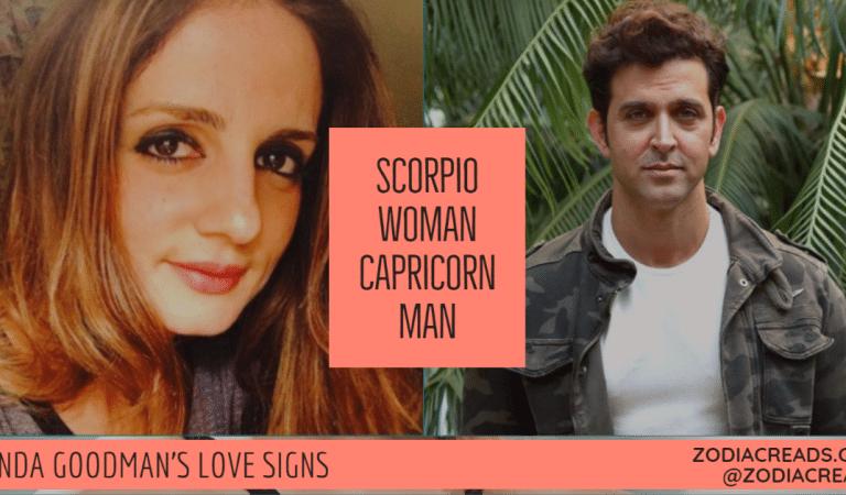 Scorpio Woman and Capricorn Man Compatibility From Linda Goodman's Love Signs