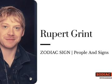 Rupert Grint Zodiac