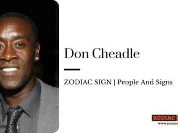 Don Cheadle zodiac